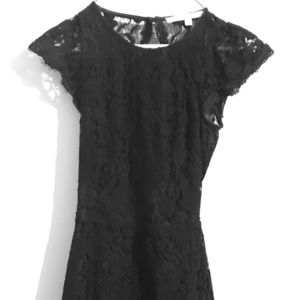Guess Black Lace Mini Dress